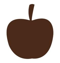 apple silhouette icon vector image