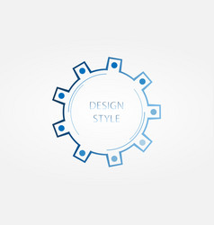Banner of blue color design style vector