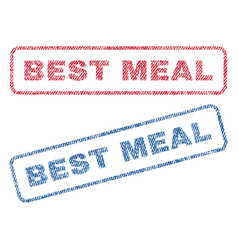 Best meal textile stamps vector