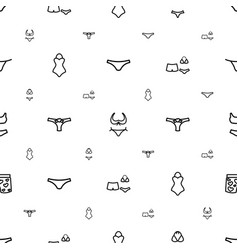Bikini icons pattern seamless white background vector