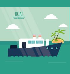 boat ship sea design vector image