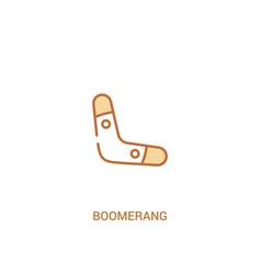 Boomerang concept 2 colored icon simple line vector