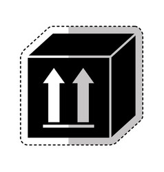 box carton with arrows icon vector image