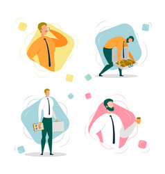 Businessman or entrepreneur working and earning vector