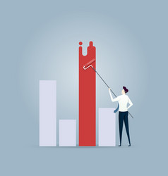 businessman painting chart - business planning vector image