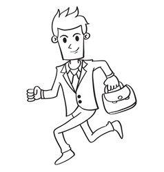 Businessmas running character style design vector
