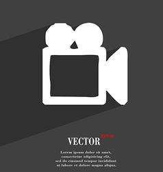 Camcorder icon symbol Flat modern web design with vector