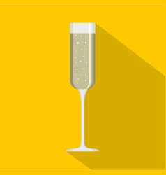 champagne glass icon flat style vector image