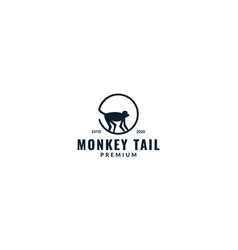 Circle tail monkey logo design vector