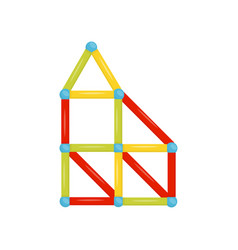 Colorful magnetic constructor children toy fun vector
