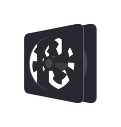 Computer case cooling fan icon cartoon style vector