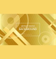 contemporary abstract golden backdrop vector image