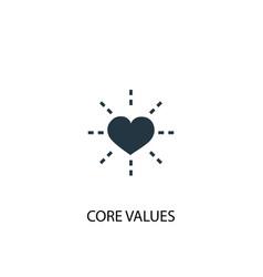 Core values icon simple element vector