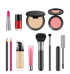 cosmetics for women pictures of various vector image