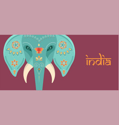 Decorated indian elephant festival background vector