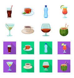 Design of drink and bar logo set of drink vector