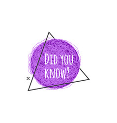 Did you know - promotional banner or cute question vector