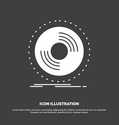 disc dj phonograph record vinyl icon glyph symbol vector image