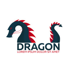 Dragon logo chinese dragon flat vector