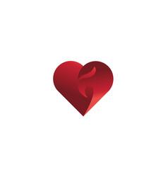 eagle head with heart shape logo design vector image