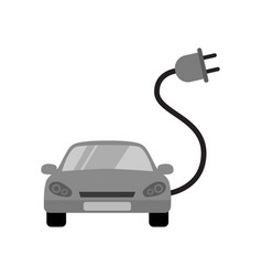 Electric car charging point icon renewable vector
