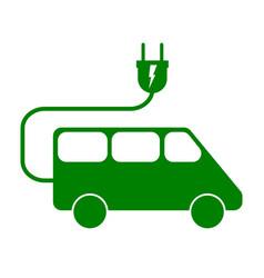 electric minivan sign vector image