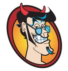 face devil vector image