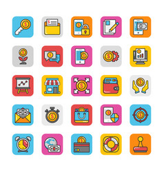 finance icons 5 vector image