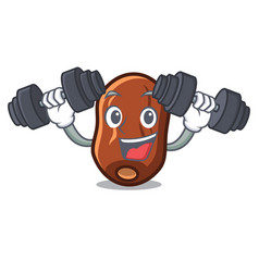 Fitness dates fruit character cartoon vector
