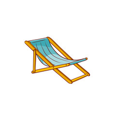 flat beach lounger icon vector image