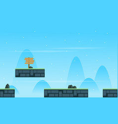 Game background scenery style collection vector