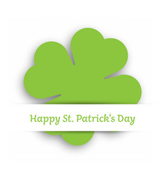 green cut out four leaf clover attached in the vector image