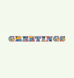 Greetings concept word art vector
