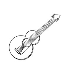 Guitar music instrument vector