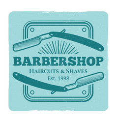 Hairdressing salon or barbershop vintage label vector