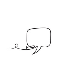 hand drawn bubble speech with one single line vector image