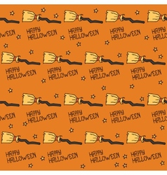 Happy Halloween Seamless pattern with witches vector image