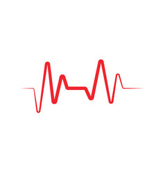heart beat ekg graphic design template vector image