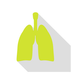 human organs lungs sign pear icon with flat style vector image