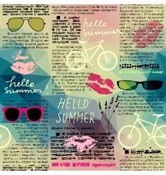 Imitation of newspaper Hello summer vector image vector image
