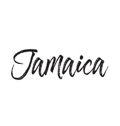Jamaica text design calligraphy vector