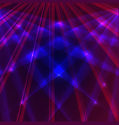 Laser background with blue and violet rays vector