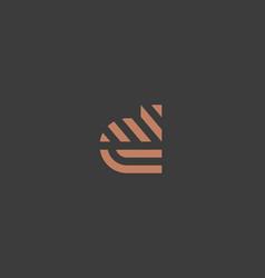 letter d line logo design creative vector image