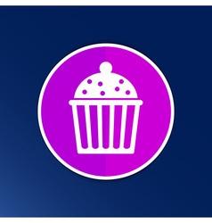 Logo cake cupcake symbol label design vector image