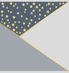 luxury black background with gold stars vector image