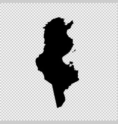 Map tunisia isolated black vector