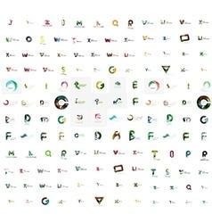 Mega set of letter logos vector
