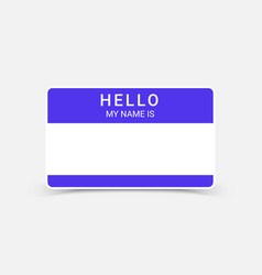 name tag hello sticker badge my nametag label vector image