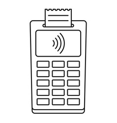 Nfc payment terminal icon outline style vector