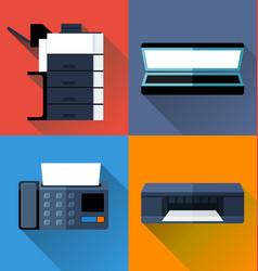 Office appliance flat design vector